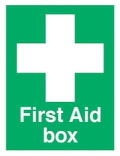 First Aid Box Sign 67mm x 50mm