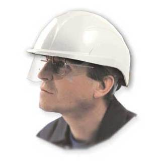 Centurian Vision Helmet with Built In Safety Visor - White