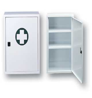 Metal First Aid Cabinet - Large