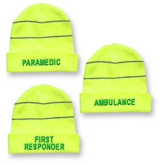 Hi-Vis Yellow Beenie Woolly Hat
