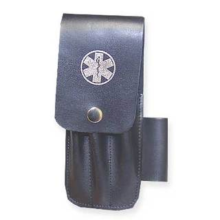 Guardian Black Leather Scissor Pouch - Unkitted - Star of Life