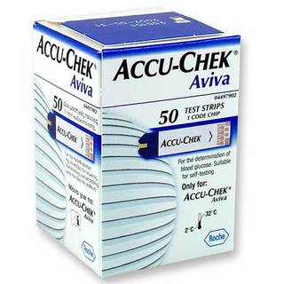 Accu-Chek Aviva Blood Glucose System Test Strips - Box of 50