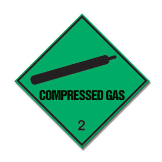 Compressed Gas Diamond Sign 300 x 300mm