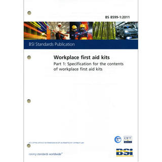 BSI BS 8599-1 Workplace First Aid Kits Contents Specification