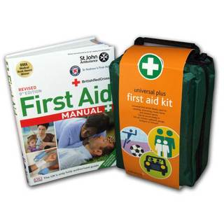 Universal Plus First Aid Kit in Stockholm Bag - Large & First Aid Manual Bundle