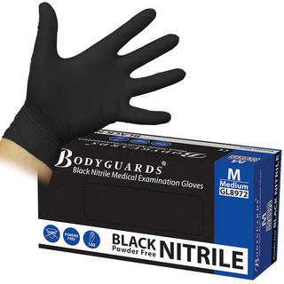 Tactical Black Nitrile Gloves Small - Box of 100