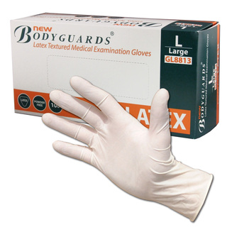 Non Sterile Powder Free Latex Gloves - White - Box of 100