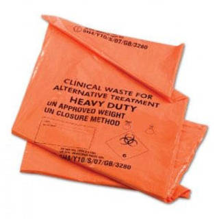 Orange Clinical Waste Bags - 71x99cm  - Heavy  - 4 Rolls of 25