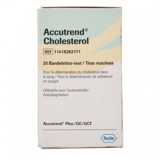 Accutrend Cholesterol Test Strips - 25 Strips