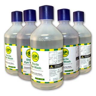 500ml Sterile Eye Wash Solution - Case of 10 Bottles
