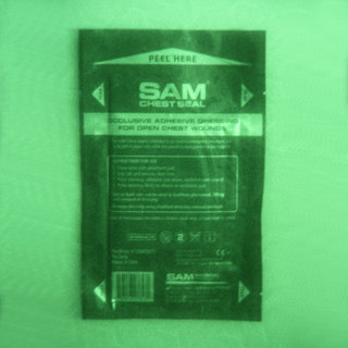 SAM Chest Seal without Valve - 2 Dressings