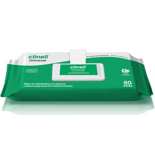 Clinell Universal Disinfectant Wipes - 50 Wipes Clip Pack