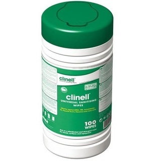 Clinell Universal Disinfectant Wipes - Tub of 100