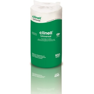 Clinell Universal Disinfectant Wipes - Refill Pack of 100 Wipes