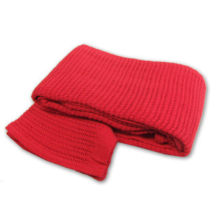 Cotton Cellular Blanket 150cm x 200cm - Case of 20 - RED