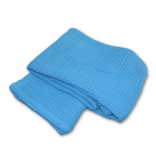 Cotton Cellular Blanket 150cm x 200cm - Case of 10 - SKY BLUE