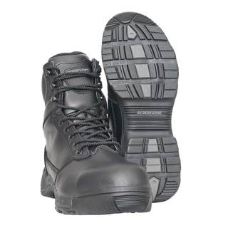 "Tracerlite 8"" Full Leather Composite Safety Toe Boot - Side Zip & Free Ecolite Bamboo Socks"
