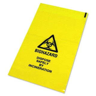 Yellow Clinical Waste Bag - 711mm x 990mm - Medium - PK 200