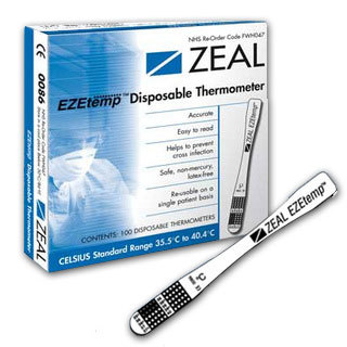 EZETemp Disposable Thermometer - Pack of 100