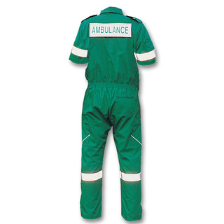 Ambulance Coverall Short Sleeve (Green) - X-Large
