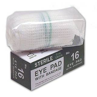 No 16 Sterile Eye Pad & Bandage - Boxed - Case 144