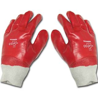 Red PVC Heavy Duty Gloves