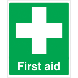 First Aid Sign 150mm x 110mm