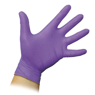 Non Sterile Powder Free Nitrile Gloves - Purple - Single Pair
