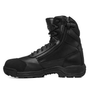 "Tracerlite 8"" Full Leather Composite Safety Toe Boot - Toe Bump Cap & Inside Zip & Free Ecolite Bamboo Socks"