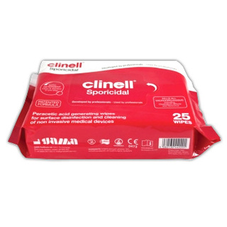 Clinell Sporicidal Wipes - 25 Wipes Pack