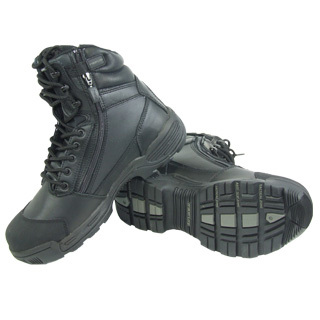 "Tracerlite 8"" Full Leather Composite Safety Toe Boot - Toe Bump Cap & Side Zip & Free Ecolite Bamboo Socks"