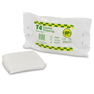 SP T4 Trauma Dressing Pad with Elasticated Bandage
