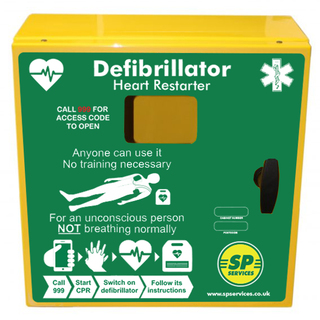 SP 1000 Defib Cabinet, Unlocked with Heating and Light