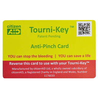 Tourni-Key with Anti-Pinch Card