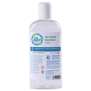 Bioguard Gel Hand Sanitiser - 70% Alcohol - 250ml Bottle