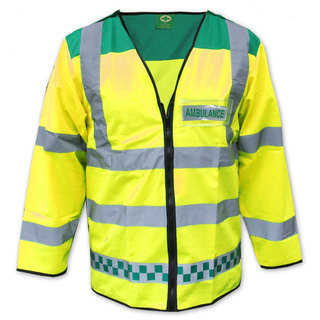 Hi-Vis Sleeved Waistcoat - Green & Yellow - Made To Measure