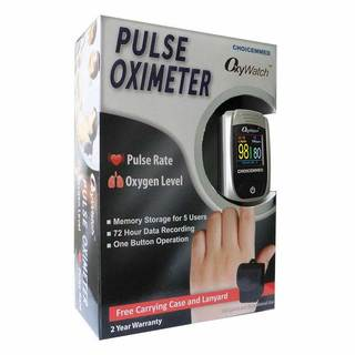 ChoiceMed OxyWatch Finger Tip Pulse Oximeter with OLED Colour Display