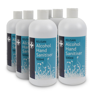 6 x 70% Alcohol Hand Gel - 500ml Bottle