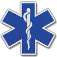 Star of Life Die Cut Reflective Decals