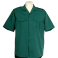 Unisex Short Sleeved Ambulance Shirt - Bottle Green