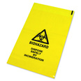 Yellow Clinical Waste Bag - 432mm x 660mm - PK 500