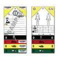 MetTag Disaster Triage Tags with Ties - Pack of 50