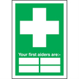 First Aiders Sign