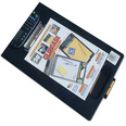 Plastic Clipboard With Storage - BLACK