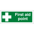 First Aid Point Sign 100mm x 250mm
