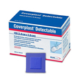 Coverplast Blue Detectable Plasters - 3.8 x 3.8cm - Box of 100