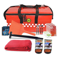 BASIC Winter Car Survival Kit - Red Emergency Holdall