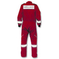 Ambulance Coverall Short Sleeve - Red - XXL
