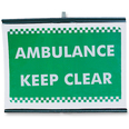 Roll Up Incident Sign - Ambulance Keep Clear