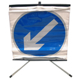 Roll Up Incident Sign - Rotating Arrow